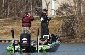 Brent Chapman Fishing in Bassmaster Classic Profile - photo by Dan O'Sullivan