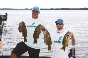 Jamieson Heaney and Jeff Kriet Show Off Some Smallmouth - photo by Dan O'Sullivan