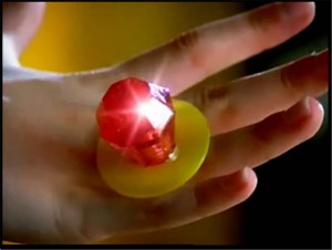 ring pop closeup