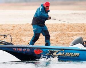 Alton Jones on the Water in the 2008 Bassmaster Classic - photo courtesy B.A.S.S.