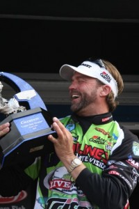 Byron Velvick with His 2010 Trophy (Custom)