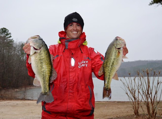 FLW Tour Lake Hartwell Day One Leader Casey Ashley