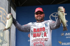 Elite Series Dardanelle Day Three Leader Greg Hackney photo by Gary Tramontina - B.A.S.S.