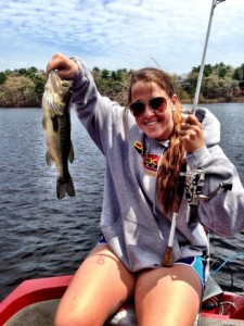 Laura Cowie-Haskell with her First Bass