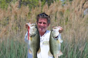 Mike Taylor with a Pair of Snake Bass