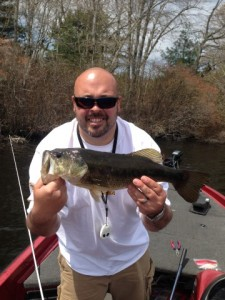 Rob Lever with a Nice Bass Caught on a We Love to Fish Trip