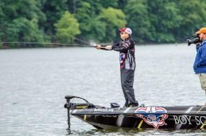 FLW Tour Kentucky Lake Day Three Leader Tom Redington - photo courtesy FLW