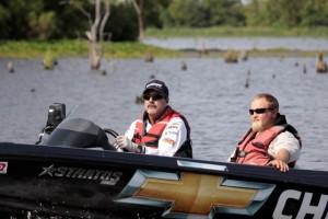 Larry Nixon Moving through a Backwater- photo by Dan O'Sullivan