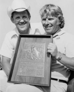 Ray Scott with Roland Martin June 1975 - photo courtesy BASS Communications