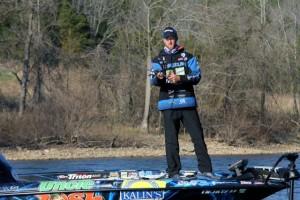 Brandon Card Fishing from his Triton Suzuki
