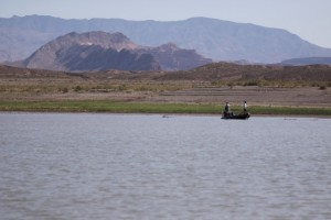 A Competitor Fishes on Lake Mead During the 2014 US Open- photo by Dan O'Sullivan