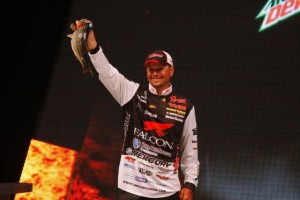 Jason Christie at the 2014 Bassmaster Classic - photo by Dan O'Sullivan