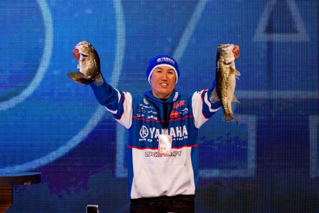 2015 Bassmaster Classic Day Two Leader Takahiro Omori