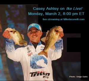 Casey Ashley on Ike Live March 2