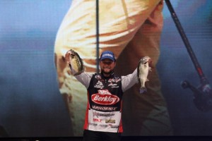 Justin Lucas at the 2015 Bassmaster Classic - photo by Dan O'Sullivan