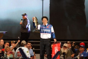 Takahiro Omori's Best Fish from Day Three of the 2015 Bassmaster Classic - photo by Dan O'Sullivan