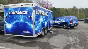 Lowrance Service Trailer at Guntersville - photo by Dan O'Sullivan