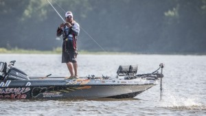 FLW Lake Eufaula Alabama Day Three Leader Troy Morrow - photo courtesy FLW