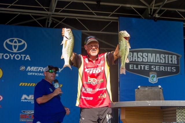 Boyd Duckett on Day Two at Kentucky Lake BASSfest - photo by Dan O'Sullivan