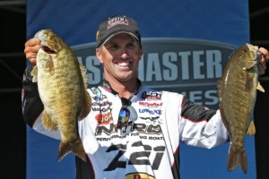 Bassmaster Elite Series St. Lawrence River Day Two Leader Edwin Evers - photo by Gary Tramontina