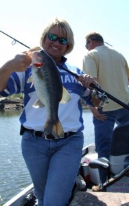 Kay Donaldson Catching Bass in 2008