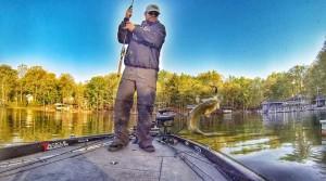 Fishing action shot