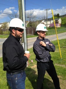 Shannon and John Crews look on during the groundbreaking for the new Missile HQ