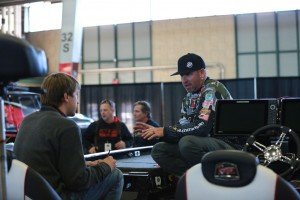 Brett Hite works with Ronnie Moore from Bassmaster
