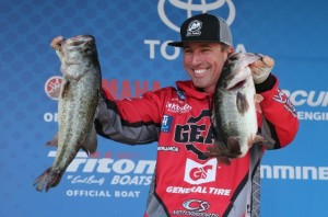2016 Bassmaster Elite Series Winyah Bay Day Two Leader Britt Myers - photo by Gary Tramontina