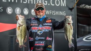 2016 FLW Tour Pickwick Lake Day One Leader Buddy Gross - photo courtesy FLW