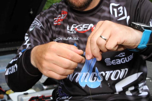 3 Seaguar Hookpoints Stetson Blaylock Wacky Rigged Stickbait - Albright Special Knot
