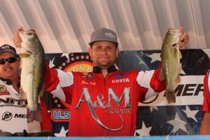 2016 WON Bass U.S. Open Day One Pro Leader Justin Patti - photo by Dan O'Sullivan for WON Bass