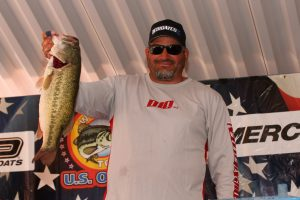 Largest Bass in U.S. Open History Weighed in by California pro Mike Walsh 7.76 lbs